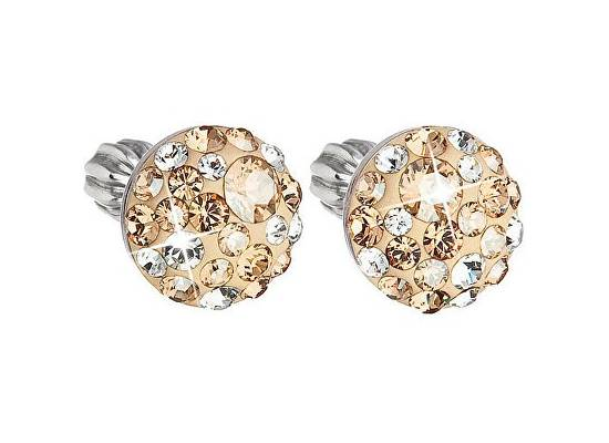 Náušnice s krystaly SW GOLD 31136.5 Ag 925
