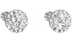 Stříbrné náušnice s krystaly Swarovski 31336.1 crystal
