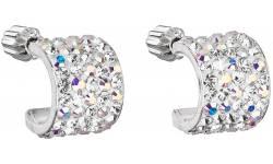 Stříbrné náušnice s krystaly Swarovski 31280.2 crystal ab