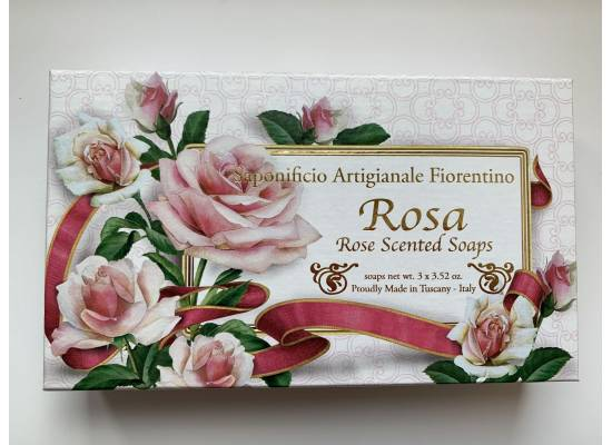 Kazeta mýdel ROSA 3X100g