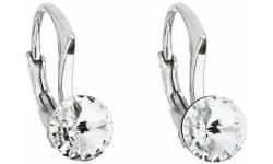 Stříbrné náušnice s krystaly Swarovski 31230.1 Krystal