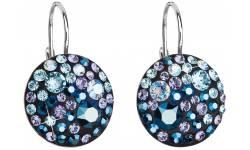 Stříbrné náušnice s krystaly Swarovski 31183.3 Blue Style