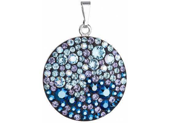 Stříbrný přívěsek s krystaly Swarovski 34131.3 BLUE