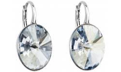 Stříbrné náušnice visací s krystaly Swarovski 31275.5 blue shade