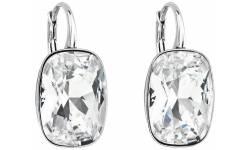 Stříbrné náušnice visací s krystaly Swarovski 31277.1