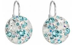 Stříbrné náušnice s krystaly Swarovski 31176.3 Tyrkys