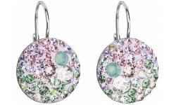 Stříbrné náušnice s krystaly Swarovski 31183.3 Sakura
