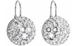 Stříbrné náušnices krystaly Swarovski 31183.1 Krystal