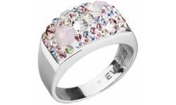 Stříbrný prsten s krystaly Swarovski 35014.3 Magic Rose