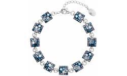 Stříbrný náramek se Swarovski krystaly modrý 33047.3 BLUE STYLE